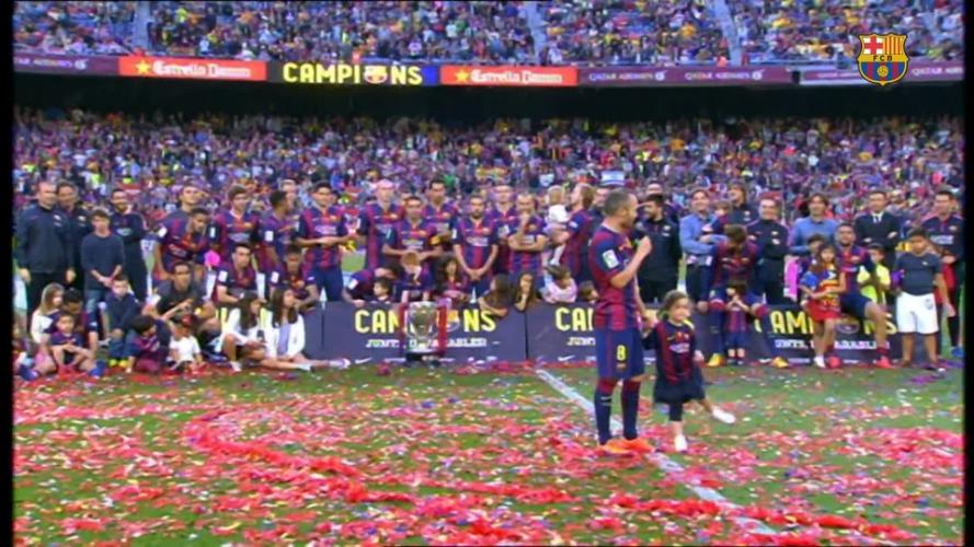 Camp Nou says goodbye to Xavi